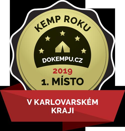 1. místo KEMP ROKU 2019 v Karlovarském Kraji (Autokemp Baldi)
